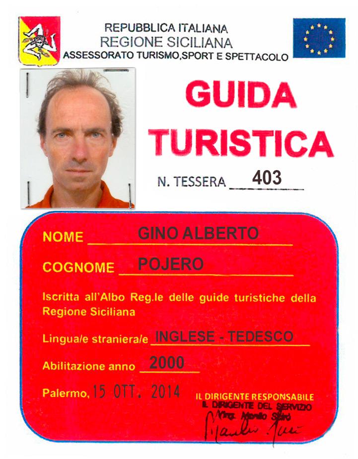 Tesserino Guida Turistica Gino Alberto Pojero